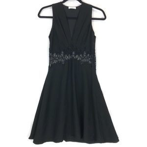 Sandro short dress with lace insert XS? DEFECT
